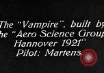 Image of Vampire plane Germany, 1922, second 4 stock footage video 65675042531