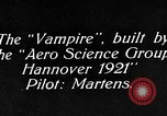 Image of Vampire plane Germany, 1922, second 5 stock footage video 65675042531