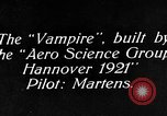 Image of Vampire plane Germany, 1922, second 6 stock footage video 65675042531