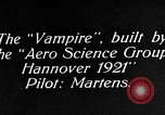 Image of Vampire plane Germany, 1922, second 11 stock footage video 65675042531