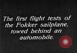 Image of Fokker sailplane Germany, 1922, second 9 stock footage video 65675042533