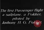 Image of Fokker biplane Germany, 1922, second 3 stock footage video 65675042534