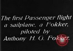 Image of Fokker biplane Germany, 1922, second 5 stock footage video 65675042534
