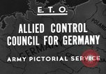Image of General Eisenhower Berlin Germany, 1945, second 3 stock footage video 65675042623