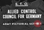 Image of General Eisenhower Berlin Germany, 1945, second 4 stock footage video 65675042623