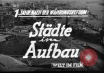 Image of reconstruction Hamburg Germany, 1949, second 6 stock footage video 65675042627