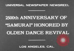 Image of Japanese sword dance Los Angeles California USA, 1930, second 8 stock footage video 65675042730