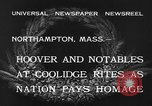 Image of Funeral of former President Calvin Coolidge Northampton Massachusetts USA, 1933, second 9 stock footage video 65675042737