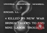 Image of National Guardsmen Kincaid Illinois USA, 1933, second 2 stock footage video 65675042738