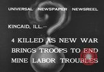 Image of National Guardsmen Kincaid Illinois USA, 1933, second 6 stock footage video 65675042738