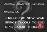Image of National Guardsmen Kincaid Illinois USA, 1933, second 10 stock footage video 65675042738