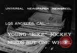 Image of unicycle Los Angeles California USA, 1933, second 2 stock footage video 65675042743