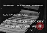 Image of unicycle Los Angeles California USA, 1933, second 5 stock footage video 65675042743