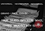 Image of air sled Colorado United States USA, 1933, second 6 stock footage video 65675042745