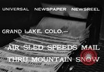 Image of air sled Colorado United States USA, 1933, second 8 stock footage video 65675042745