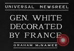 Image of General White France, 1934, second 5 stock footage video 65675042759