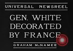 Image of General White France, 1934, second 6 stock footage video 65675042759