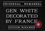Image of General White France, 1934, second 10 stock footage video 65675042759