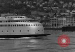 Image of Kalakala ferry inaugural voyage on Puget Sound Seattle Washington USA, 1935, second 8 stock footage video 65675042768