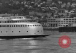 Image of Kalakala ferry inaugural voyage on Puget Sound Seattle Washington USA, 1935, second 9 stock footage video 65675042768