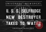 Image of United States Selfridge destroyer Camden New Jersey USA, 1936, second 1 stock footage video 65675042781