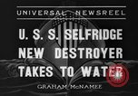 Image of United States Selfridge destroyer Camden New Jersey USA, 1936, second 5 stock footage video 65675042781