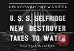 Image of United States Selfridge destroyer Camden New Jersey USA, 1936, second 8 stock footage video 65675042781