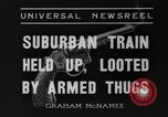 Image of suburban train Nutley New Jersey USA, 1936, second 7 stock footage video 65675042782