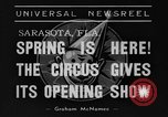 Image of Ringling Barnum and Bailey circus Sarasota Florida USA, 1938, second 3 stock footage video 65675042787