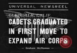 Image of USAAC Aviation Cadets graduate in California Glendale California USA, 1939, second 10 stock footage video 65675042793