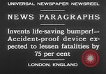 Image of life saving car bumper invention London England United Kingdom, 1930, second 2 stock footage video 65675042803