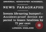 Image of life saving car bumper invention London England United Kingdom, 1930, second 3 stock footage video 65675042803