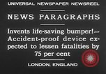 Image of life saving car bumper invention London England United Kingdom, 1930, second 7 stock footage video 65675042803