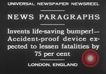 Image of life saving car bumper invention London England United Kingdom, 1930, second 8 stock footage video 65675042803