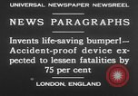 Image of life saving car bumper invention London England United Kingdom, 1930, second 9 stock footage video 65675042803