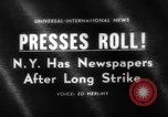Image of newspaper strike ending New York United States USA, 1963, second 1 stock footage video 65675042825