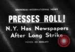 Image of newspaper strike ending New York United States USA, 1963, second 2 stock footage video 65675042825
