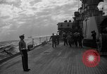 Image of Navy Secretary, Thomas, visits USS Bennington and USS St. Paul Pacific Ocean, 1955, second 2 stock footage video 65675042864
