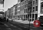 Image of City street scene New York City USA, 1950, second 5 stock footage video 65675042883