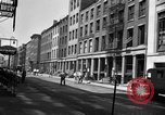 Image of City street scene New York City USA, 1950, second 9 stock footage video 65675042883