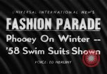 Image of fashion show New York United states USA, 1957, second 1 stock footage video 65675042904