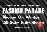 Image of fashion show New York United states USA, 1957, second 3 stock footage video 65675042904