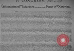 Image of Declaration of Independence Washington DC USA, 1936, second 6 stock footage video 65675042909