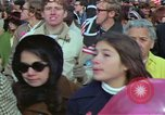 Image of Peace demonstrators march protesting Vietnam War Washington DC USA, 1969, second 9 stock footage video 65675042914