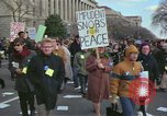 Image of Peace demonstrators protest Vietnam War Washington DC USA, 1969, second 3 stock footage video 65675042915