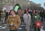 Image of Peace demonstrators protest Vietnam War Washington DC USA, 1969, second 6 stock footage video 65675042915