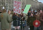 Image of Peace demonstrators protest Vietnam War Washington DC USA, 1969, second 10 stock footage video 65675042915