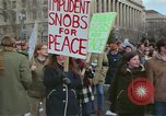 Image of Peace demonstrators protest Vietnam War Washington DC USA, 1969, second 11 stock footage video 65675042915