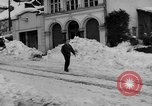 Image of shoveling snow Bludenz Austria, 1954, second 5 stock footage video 65675042927