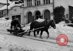 Image of shoveling snow Bludenz Austria, 1954, second 11 stock footage video 65675042927